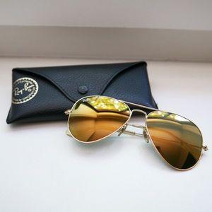 Gold Mirror Aviator Sunglasses